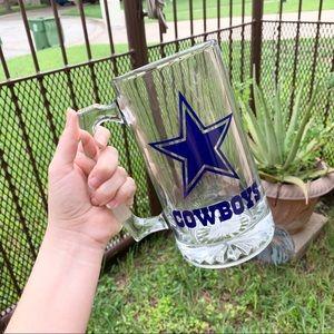DALLAS COWBOYS custom tall beer/party mug!